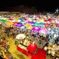 Vivid scene at Bangkok night market in Saigon City